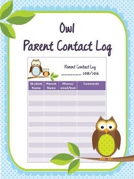 Owl Parent Contact Log