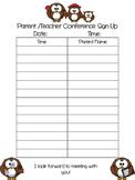 Owl Parent/Teacher Conference Freebie