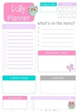 Owl Pastel Daily Planner