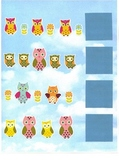 Owl Patterns File Folder Game - Math Center
