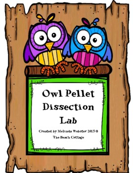 Owl Pellet Dissection Lab with QR code to scan for a video