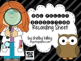 Owl Pellet Dissection Recording Sheets