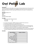 Owl Pellet Lab Sheet