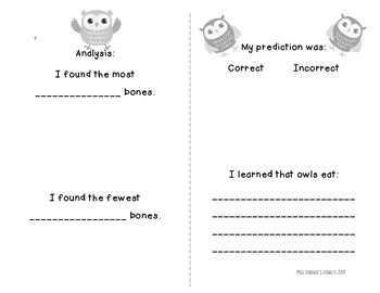 Owl Pellet Dissection: A Science Discovery Interactive Mini-Book!