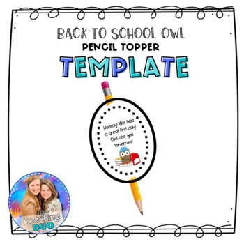 Owl Pencil Toppers! Back to School Theme