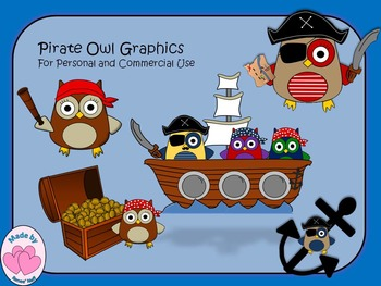 Owl Pirates Graphics for Commercial and Personal Use