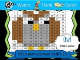 Owl Place Value - Watch, Think, Color! CCSS.1.NBT.B.2