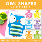 Owl Play Doh Mats for Fine Motor Fun