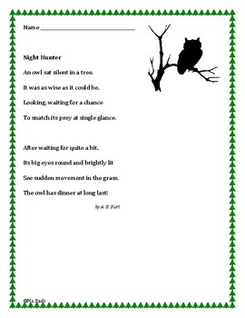 Owl Poem: Comprehension, Analysis and Language Development