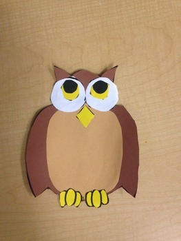 Owl Poem and Art (Using Adjectives and Verbs)
