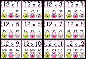 Divine image regarding multiplication facts 1-12 printable