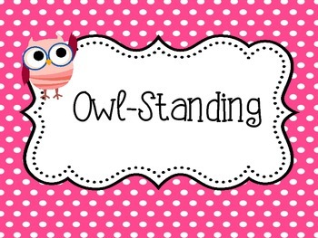 Owl Polka Dot Behavior Chart - Clip System