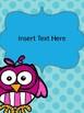 Owl & Polka-Dot Calendar Covers EDITABLE