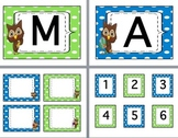 Owl & Polka Dot Class Decor-EDITABLE-Word Wall Headers-Labels-CAFE-Cubbie #'s