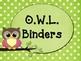 Owl & Polka Dot Classroom Theme Kit