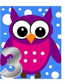 Owl Polka Dot Group Numbers