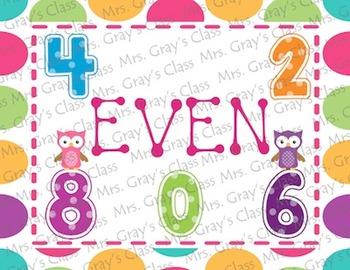 Owl & Polka Dot Themed Number Card Set