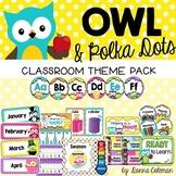 Owl & Polka Dots Decor BUNDLE | EDITABLE