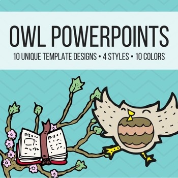 Owl Theme PowerPoints for Meet the Teacher, Back to School, Open House