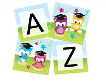 Owl Preschool Kindergarten Graduation Banner By Learning Clubhouse