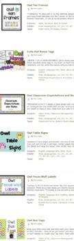 Owl Product Bundle (20 resources)