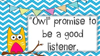 Owl Promise Posters