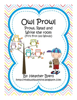 Owl Prowl {Prowl/Read/Write the Room} Fry's First 100 Words