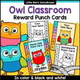 Owl Punch Cards Editable Classroom Decor