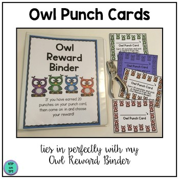 Owl Punch Cards (Positive Behavior Incentive Program)