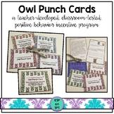 Owl Punch Cards (Positive Behavior Incentive Program)