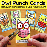 Owl Theme Punch Cards - Behavior Management Tool