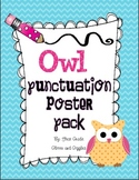 Owl Punctuation Poster Pack
