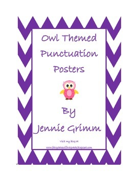 Owl Punctuation Posters