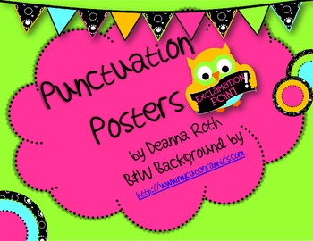 Owl Punctuation Printable Posters