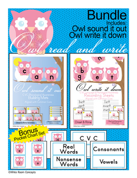 Owl Read and Write -CVC Language & Phonological Awareness [Bundle] - Common Core