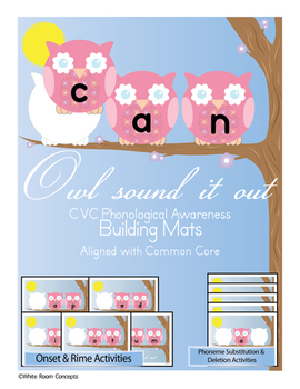 Owl Read and Write -CVC Language & Phonological Awareness [Preview]- Common Core