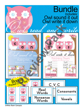 Owl Read and Write -CVC Language & Phonological Awareness
