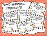 """""""OWL""""-STANDING Certificates"""