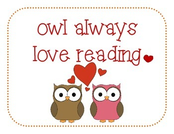 Owl Reading Bookmarks and Posters