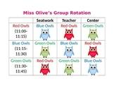 Owl Reading Center Rotations