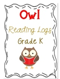 Owl Reading Log (Monthly Reading Logs for the Year!)