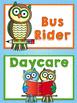 Owl (Reading Owl) Themed Classroom Decor:  Editable Go Home Signs