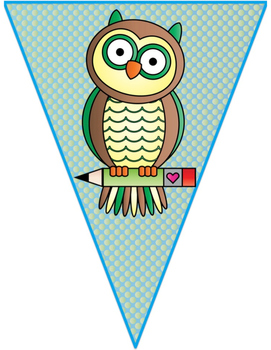 Owl (Reading Owl)  Themed Classroom Decor:   Welcome Banner