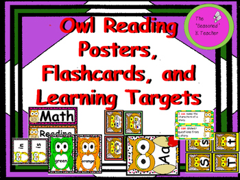 Owl Reading Posters, Flashcards, and Learning Targets