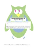 Owl Reinforcer Game for Speech Therapy