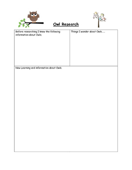 Owl Research with QR codes and Newspaper Writing Activity