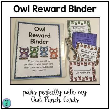 Owl Reward Binder (Positive Behavior Incentive Program)