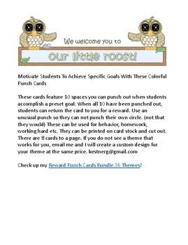 Owl Reward Punch Cards