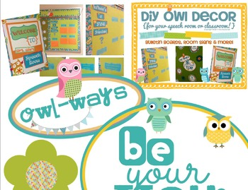 Owl Room Decor {bulletin boards, room signs, & more!}