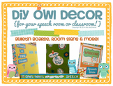Owl Room Decor   bulletin boards, room signs, & more